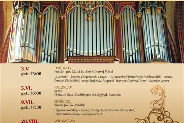 XIV Paczkowski Festiwal Muzyki Organowej i Kameralnej