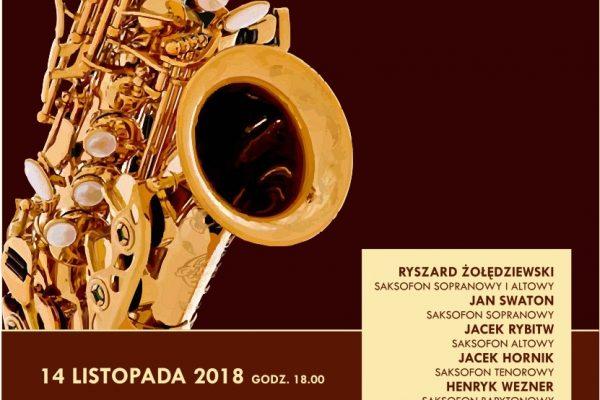 Koncert 14.11.2018 – Polski Ansambl Saksofonowy