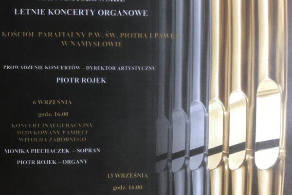 XXI Namysłowskie Letnie Koncerty Organowe
